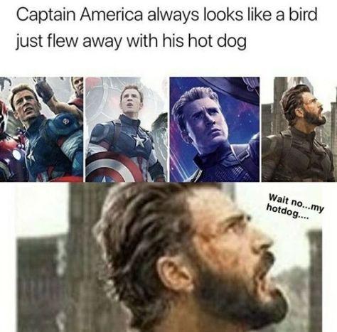 18 Avengers Memes Hilarious Captain America - Next Memes Funny Marvel Memes, Marvel Jokes, Dc Memes, Avengers Memes, Funny Memes, Hilarious, Marvel Universe, Marvel E Dc, Marvel Avengers
