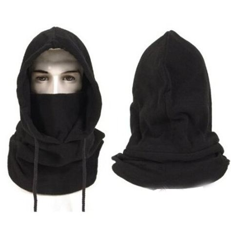 Unisex Winter Warm Snood Fleece Men Scarf Hood Neck Face Mask Cycling Ski Hat Ji