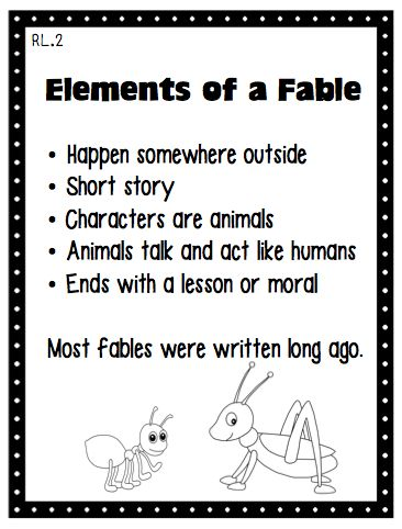 Fables Anchor Charts, Fables Anchors, Fable Anchor Chart, Fables And ...