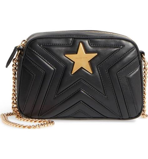 STELLA MCCARTNEY Mini Star Quilted Faux Leather Camera Bag  9cb7e9a9c5fc4
