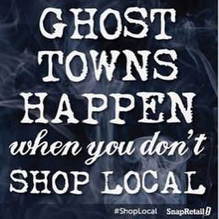 Don't let this happen to our community. #shoplocal #shopsmall #ghost #halloween