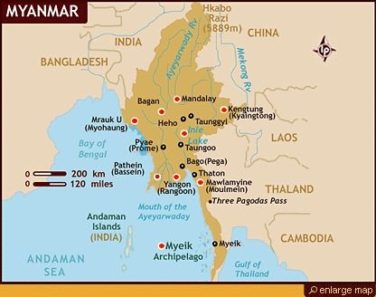 Where Is Myanmar On The Map burma capital map 416 X 328 pixels ...