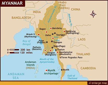 Where Is Myanmar On The Map burma capital map 416 X 328 ...