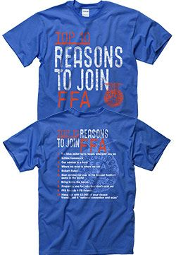 Now available: Top 10 reasons to join FFA tee