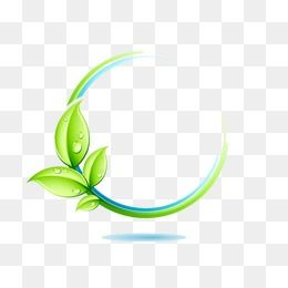 Green Leaves Border Leaf Logo Tree Logo Design Gold Texture