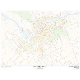 Ottawa Gatineau Postal Code Forward Sortation Areas Map Postal Code Map Area Map Canada Map