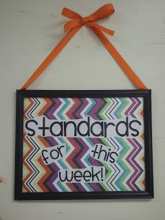 Hi all! I was thinking about some of the different ways I have come across to display standards or learning objectives and thought I would share! Maybe you will get some inspiration from the ideas in pictures below too!   This was my very first classroom and I literally bought a standards display poster from Really Good Stuff and put it...