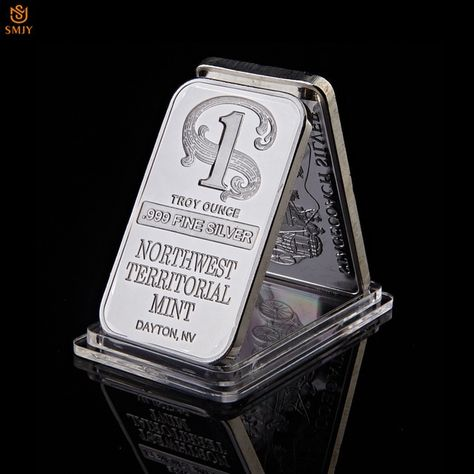 1 Troy Ounce 999 Fine Sliver Plated Northwest Territorial Mint Dayton Nv Replica Bullion Bar Silver Commemorative Coin Gifts Review Silver Bars Branded Mints Commemoration