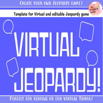 Looking For A Perfect Distance Learning Resource That Can Be Reused Back In The Classroom This Product Is A Distance Learning Jeopardy Game Template Learning