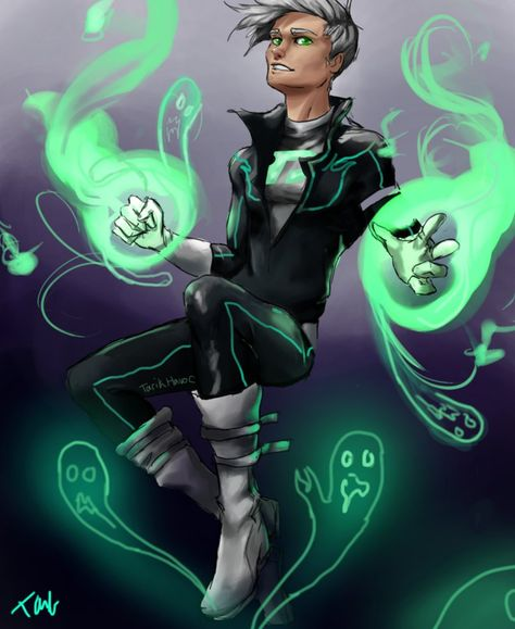 redraw of my old danny phantom drawing, i also tried redesigning him a bit.