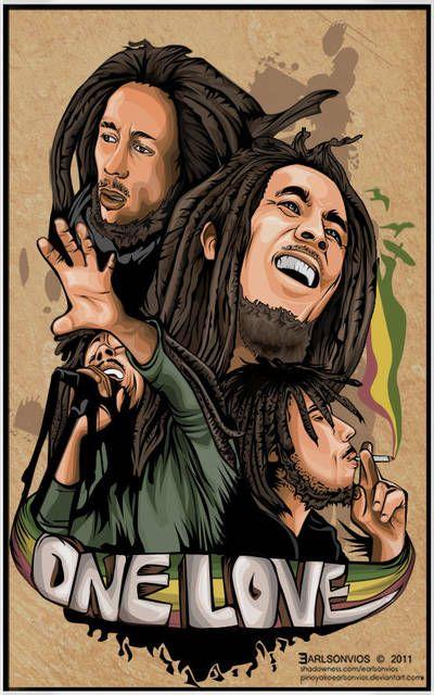One Love By Pinoyakoearlsonvios Bob Marley Art Bob Marley Pictures Reggae Art