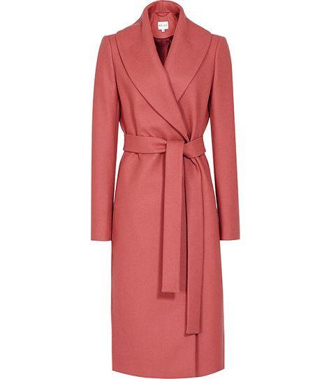 Buy Reiss Lennie Long Wrap Coat, Ambrosia from our Women's Coats & Jackets range at John Lewis & Partners.