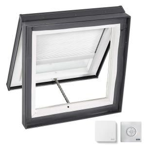 Fakro Fwu R Egress Window 22 1 4 In X 45 1 4 In Venting Roof Access Skylight With Tempered Glass Lowe 69108 The Home Depot In 2020 Light Filtering Blinds Skylight Room Darkening Blinds