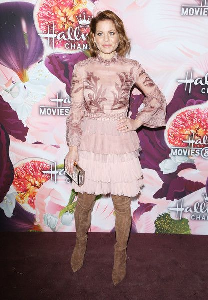 Candace Cameron Bure arrives to the Hallmark Channel and Hallmark Movies and Mysteries Winter 2018 TCA Press Tour.