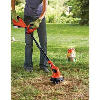 Black Decker 7 In 20 Volt Max Lithium Ion Cordless Garden Cultivator Tiller With 1 5ah Battery And Charger Included Lgc120 Garden Cultivator Best Garden Tools Garden Tools