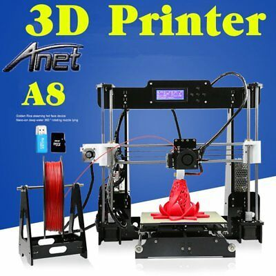 Anet A8 Upgraded Quality High Precision Reprap Prusa i3 DIY 3d Printer USA.