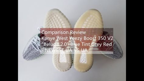 pretty nice 5ef60 120bb Comparison Review Kanye West Yeezy Boost 350 V2