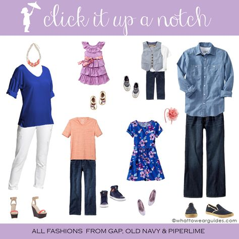 What to Wear in Family Photos via Click it Up a Notch