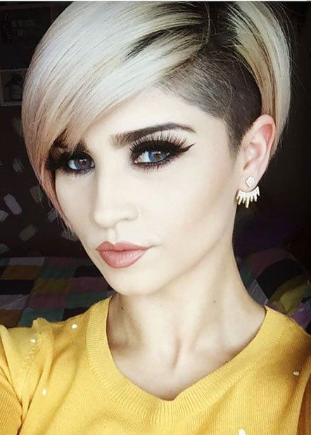 10 Best Shaved Sides Short Haircut Female Ideas In 2019 Hair Ideas