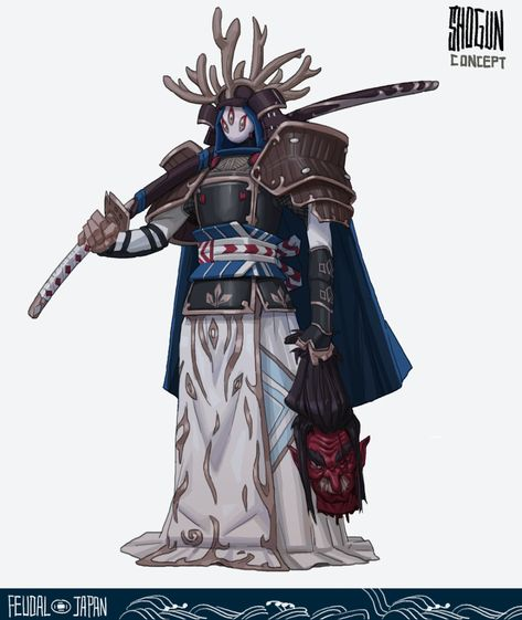 ArtStation - Rong Chen's submission on Feudal Japan: The Shogunate - Character Design