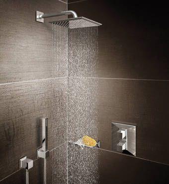 Shower Design Styles by GROHE: Cosmopolitan – Minimalist Shower Heads   Rainshower® Systems
