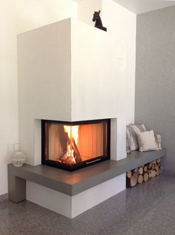 188 best Fireplaces in the corner images on Pinterest Fire - wohnzimmer modern kamin