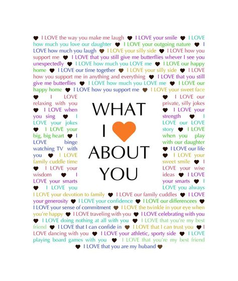 Do you know someone is celebrating a birthday, anniversary, or special occasion? Give them a gift that tells them just how much you love them! What I {Love} About You - Download is a completely customizable gift. With this digital download, you can add your own words and make your own one-of-a-kind gift.