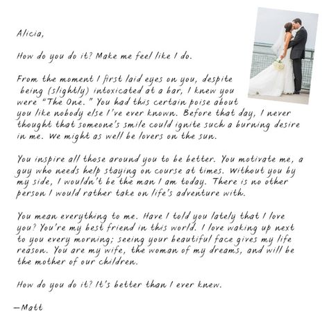 How to write a love letter to my wife