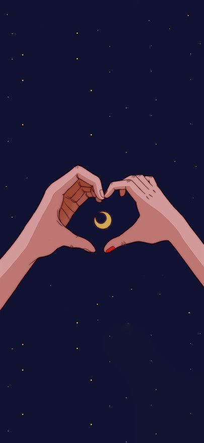 Love Heartbeat Gesture Starry Sky Moon Wallpapers For Iphone11 Iphone11 Pro Iphone 11 In 2020 Iphone Wallpaper Moon Sailor Moon Wallpaper Pretty Wallpaper Iphone
