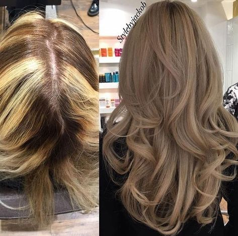 Love the blonde colour afterwards