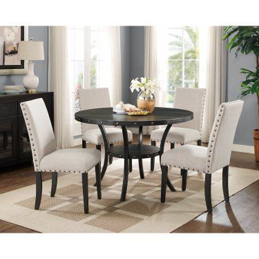 Roundhill Furniture Biony Nailhead Trim Upholstered Dining Chair