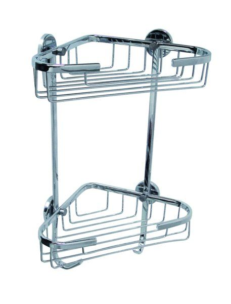 Exceptional Coorb Single Layer Corner Shower Caddy   Never Drill Again  Chrome On  Brass  No Drilling Required   Shower Caddyu0027s   Pinterest   Corner Shower  Caddy