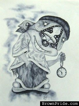 Chola Clown Drawing : chola, clown, drawing, Drawing