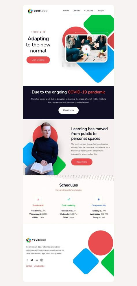 Adapting to the new normal - Email Template