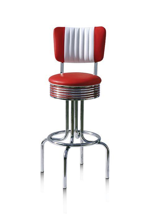 Sgabelli American Style.Sgabello Modello Portland Colore Red Altezza Da Terra 77cm