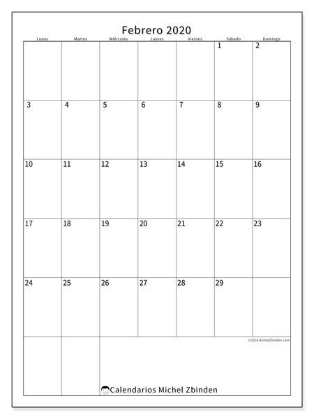 Calendario Julio 2020 Para Imprimir.Calendario Febrero 2020 52ld Calendario 2020 Calendario Julio