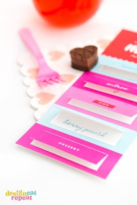 we love the cute little surprise pop up windows design eat repeat made these fun diy menus using avery menu cards