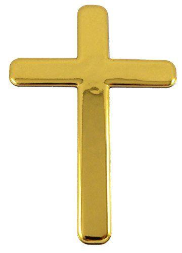 Jesus Cross Gold Finish Decal Emblem 3d Sticker Car Bike Auto 2