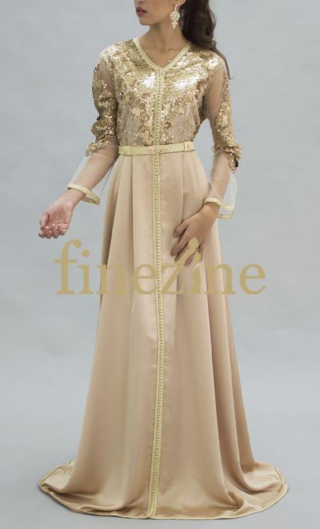 Safia Gandoura Kaftan Sky Blue Moroccan Dress Oriental Fashion Fashion