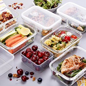 Glass Meal Prep Containers Glass Sectioned Lunch Containers Glass