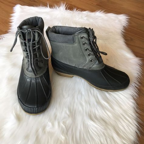10a06d855ce1ab Tommy Hilfiger Gray Charlie Duck Boots Size 8  fashion  clothing  shoes   accessories  mensshoes  boots (ebay link)