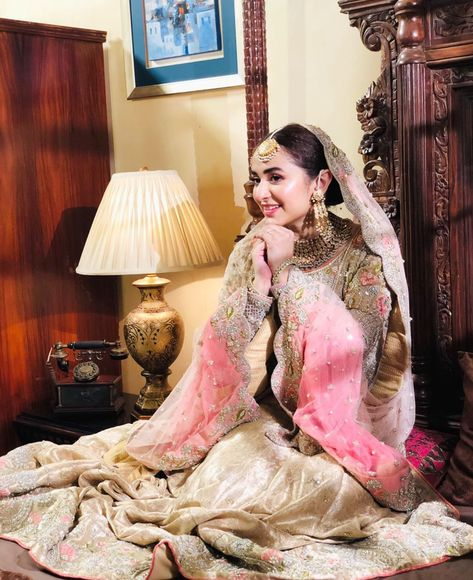 looking fabulous in this adorable bridal attire for her upcoming project 🤩♥️🌸 .