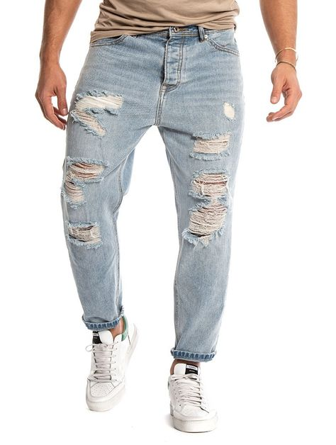 bec6996b5 KEVIN DISTRESSED JEANS IN LIGHT BLUE