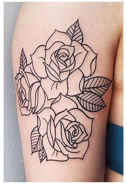 35 Beautiful Rose Tattoo Ideas For Women Rose Tattoo Stencil Outline These Rose Tattoo Desig In 2020 Tattoo Stencil Outline Rose Tattoo Stencil Rose Outline Tattoo
