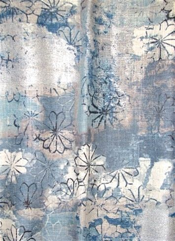 Tahara 57 Smokey Blue Contemporary Decorator Drapery Fabric With