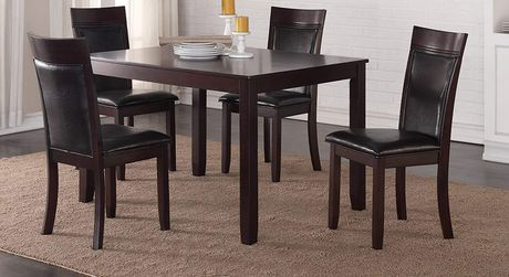 K Living K Living Nellie Dining Table Espresso Dining Chair Set