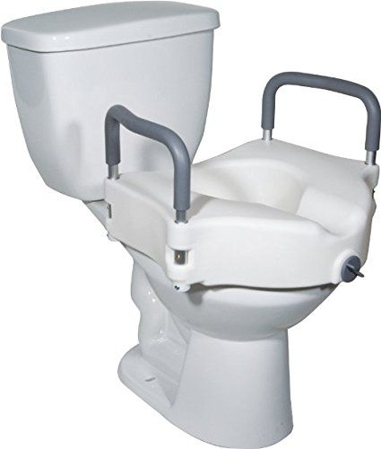 Medical Elevated Raised Toilet Seat Commode Riser With Removable