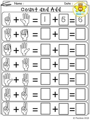 Math Number Addition With Images Kindergarten Math
