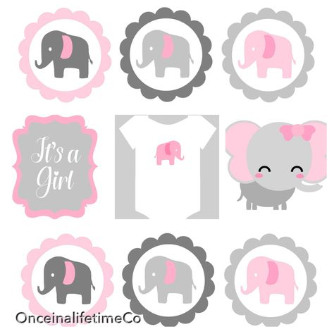 A personal favorite from my Etsy shop https://www.etsy.com/listing/489777240/digital-baby-elephant-shower-centerpiece