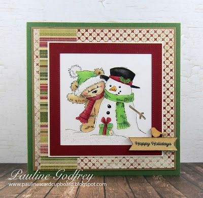 Pauline S Card Cupboard Happy Holidays From James Snowman Christmas Cards Handmade Holiday Cards Christmas Cards